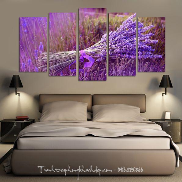 Hinh anh tranh treo phong ngu hoa oai huong lavender