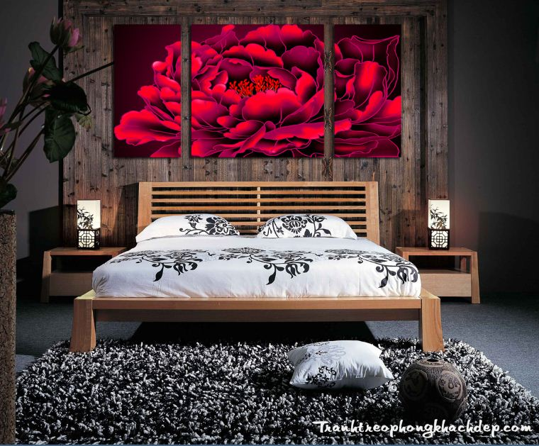 Hinh anh bo tranh hoa mau don mau do AmiA 1167