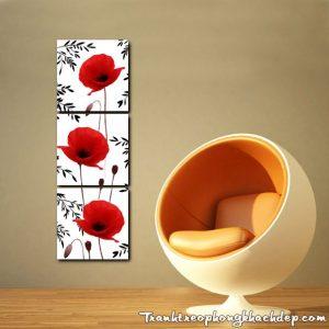 Hinh anh tranh hoa poppy do ghep bo kho dung AmiA