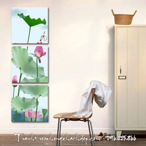 Hinh anh tranh hoa sen kho dung ghep bo AmiA 1150