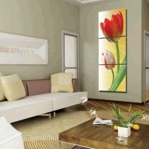 Hinh anh tranh hoa tulip ghep bo kho dung AmiA 1164