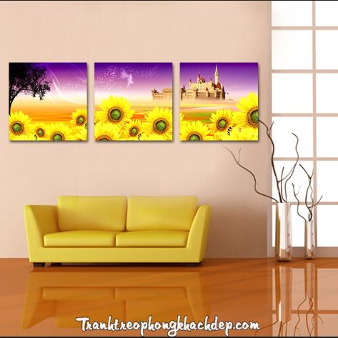 tranh treo tuong hoa huong duong dep