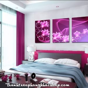 tranh treo phong ngu hoa tim