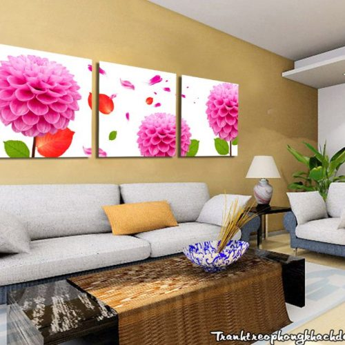 Bo tranh hoa cam chuong treo tuong phong khach dep AmiA