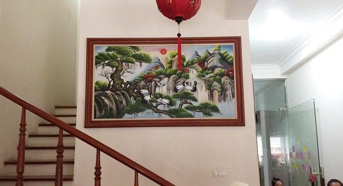 Top tranh ve phong canh nui rung dep nhat AmiA bang chat lieu son dau