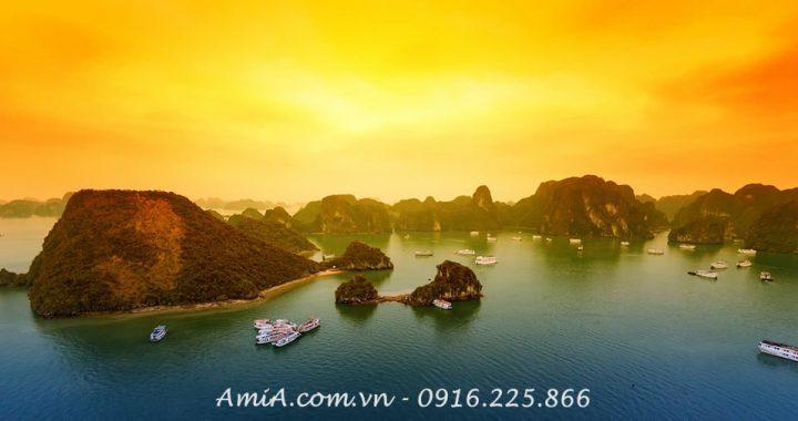 Tranh phong canh hop nguoi menh Thuy Vinh Ha Long