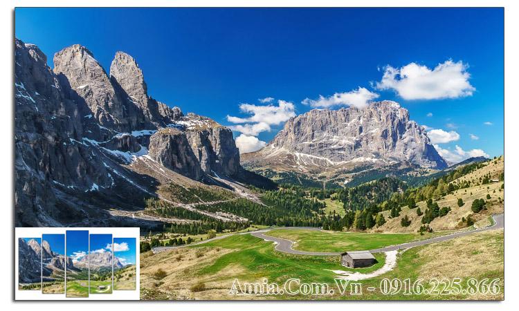 Tranh phong cảnh núi đồi làm theo yêu cầu Amia 1584
