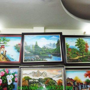 Hinh anh buc tranh ve phong canh song nui son dau tai cua hang tranh AmiA