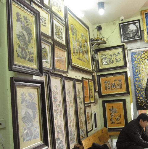 treo tranh dan gian Dong Ho chinh goc tai sieu thi tranh amia