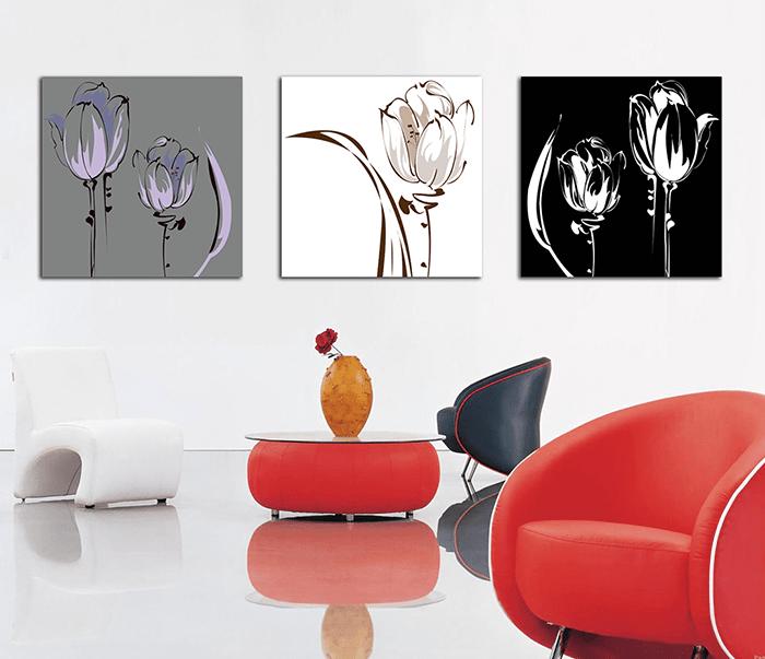 Hinh anh dep tranh hoa tulip xray treo tuong hien dai Amia 2025