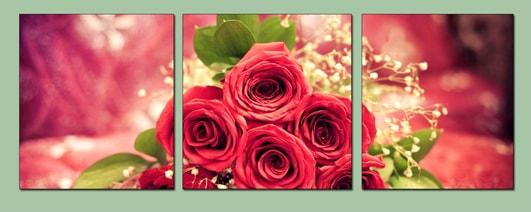 Hinh anh bộ tranh hoa hồng treo tường phòng ngủ lãng mạn AmiA 448