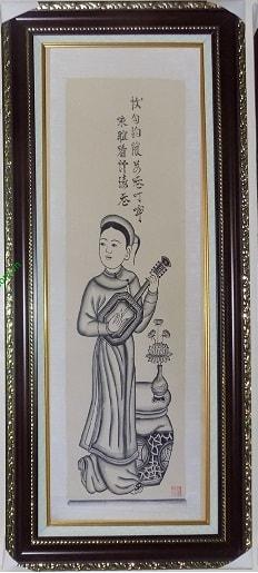 Hinh anh to nu choi dan tam - Tranh dong ho to nu