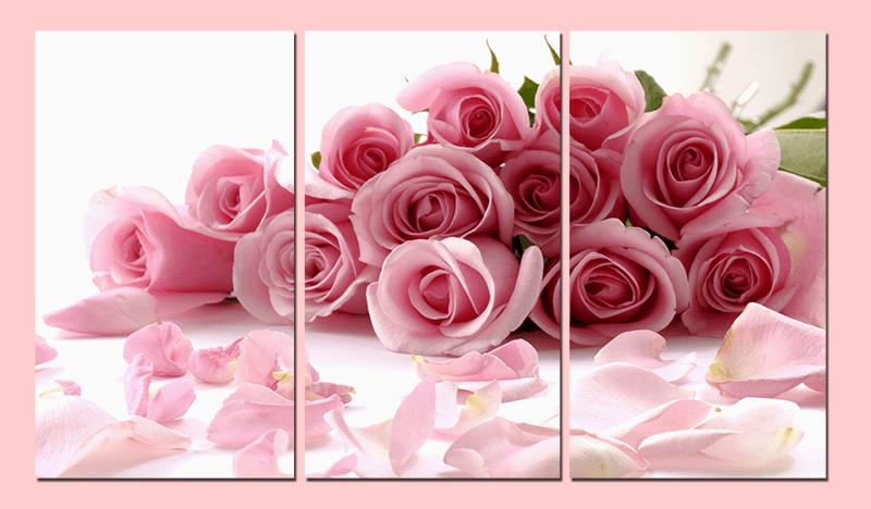 Hinh anh tranh treo ở phòng cưới hoa hồng ý nghĩa trong tình yêu AmiA 452