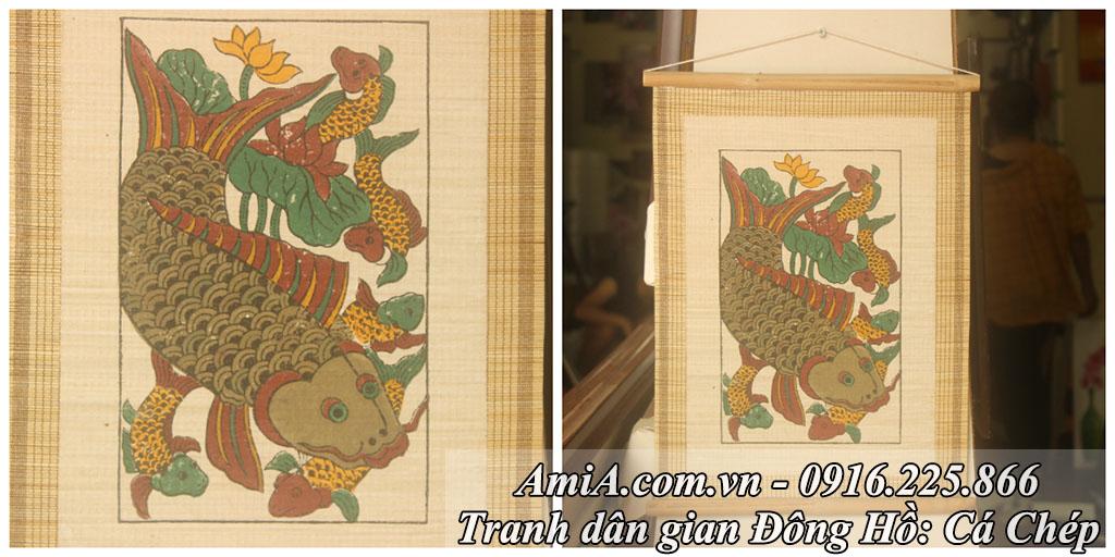 Tranh dan gian Dong Ho ca chep