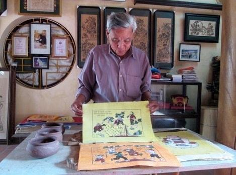 Hinh anh tranh dan gian Dong Ho la dong tranh tet y nghia