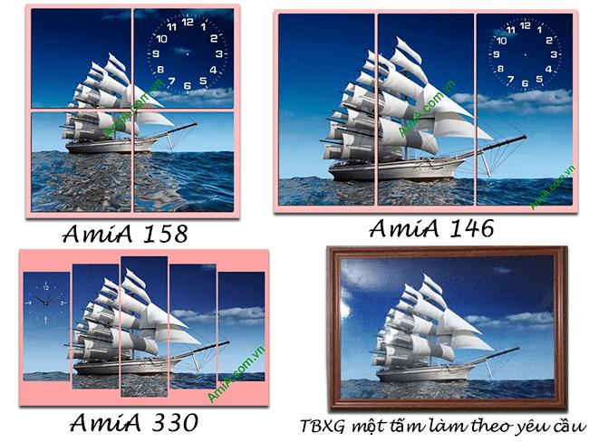 Cùng một mẫu tranh thuận buồm xuôi gió ghép cách điệu khác nhau