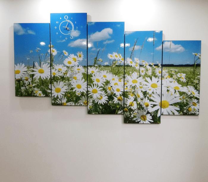 Tranh hoa cuc hoa mi trang tri phong khach chung cu hien dai AmiA 381