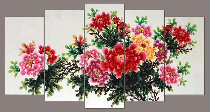 Tranh cay hoa mau don treo tuong AmiA 1378