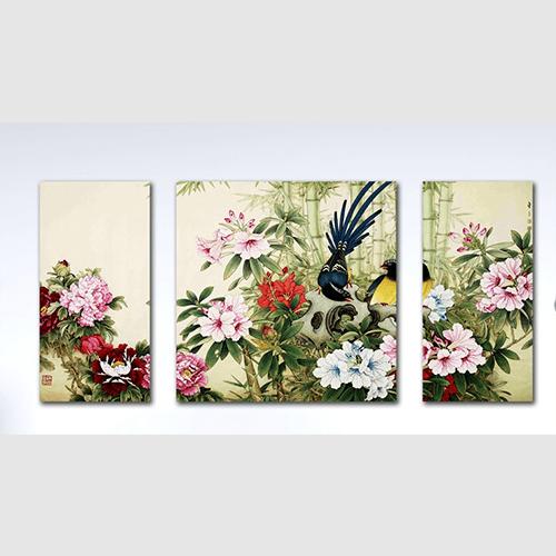 Tranh hoa mau don bo 3 tam AmiA 1316