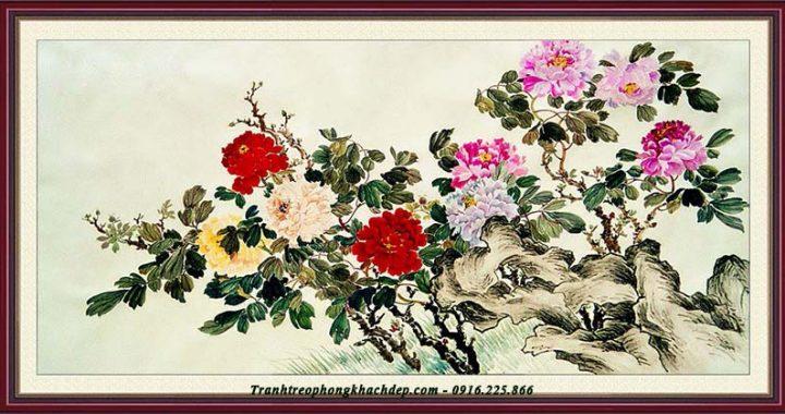 Tranh hoa mau don bo suu tap tranh dep nhat cho phong khach hien dai