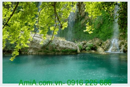 Tranh phong canh dep thien nhien thac nuoc AmiA Tranh phong cảnh đẹp thiên nhiên thác nước AmiA 154903911