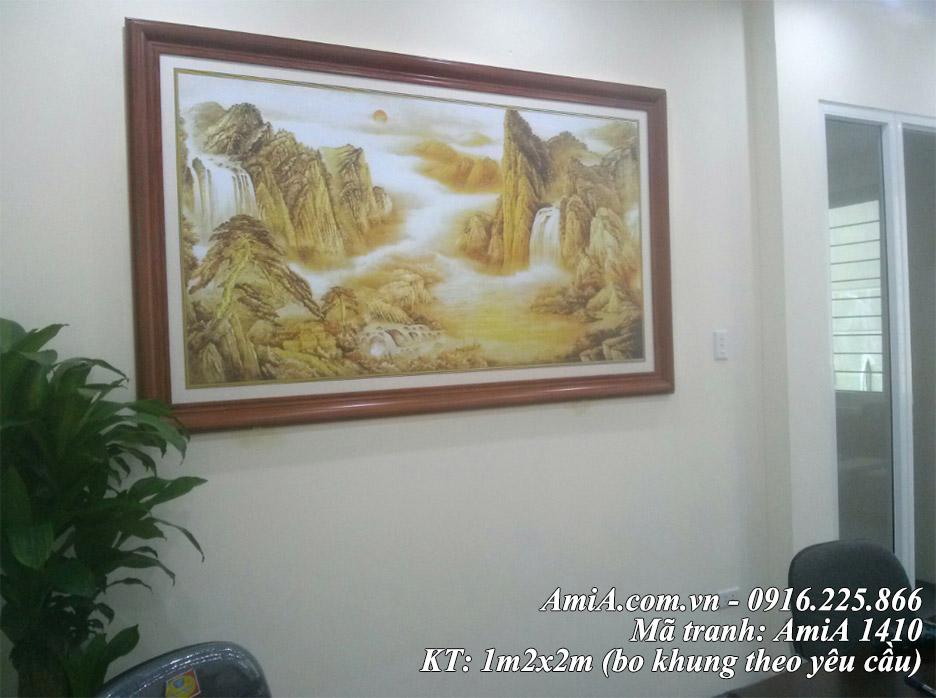 Tranh nui dep AmiA 1410 treo phong lam viec