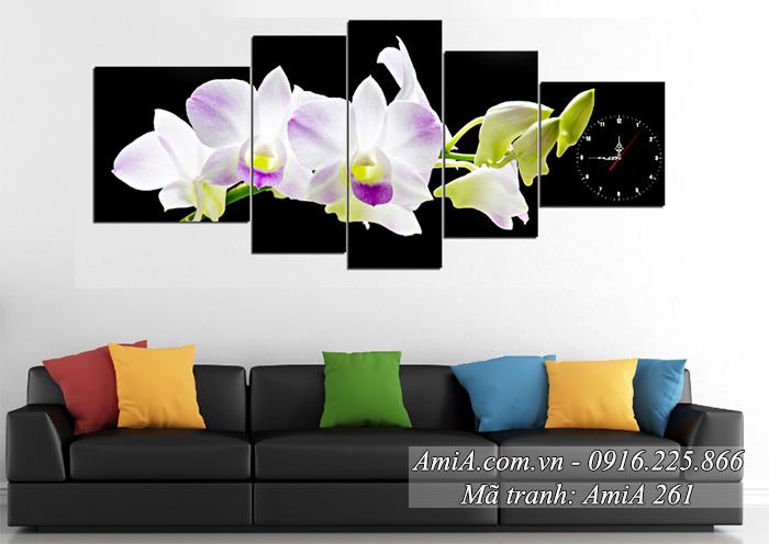 AmiA 261 Tranh phong lan ho diep trang thuoc hanh Kim hop tuoi Ty sinh nam 1984
