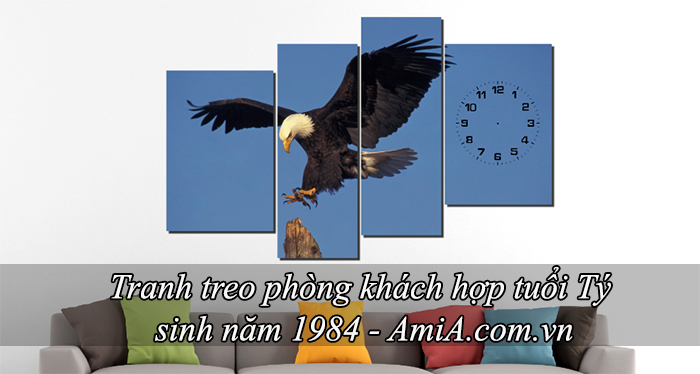 Tranh treo phong khach hop tuoi ty sinh nam 1984