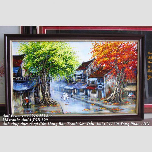 Tranh son dau pho co vao mua thu AmiA TSd 390