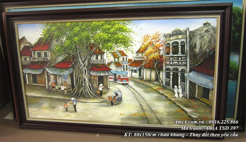 Goc nghieng cua buc tranh phong canh pho co son dau Amia TSD 397