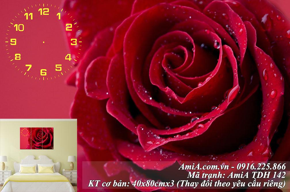 Mua tranh hoa hong treo tuong dep AmiA ma 142