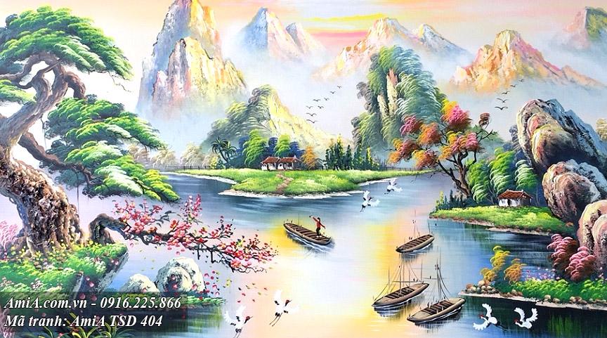 Phong canh song nui ve son dau dep y nghia