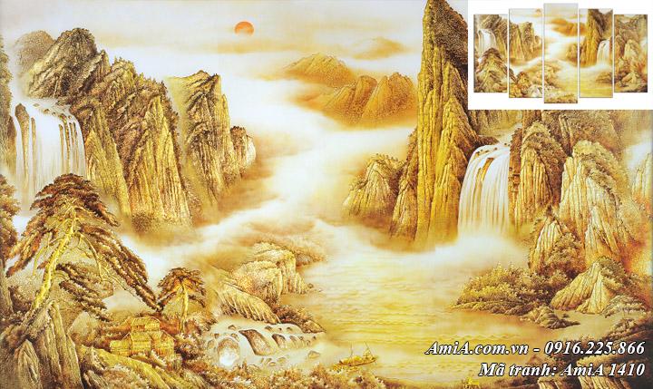 Tranh treo tường thuộc hành Thổ hành Kim Núi Vàng