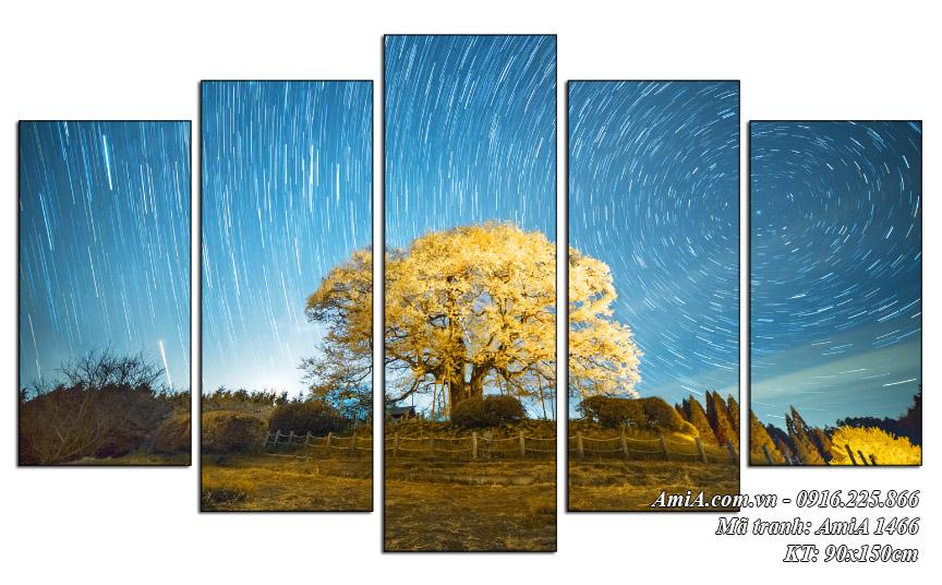 Tranh phong canh dep khu vuon sao bang AmiA 1466