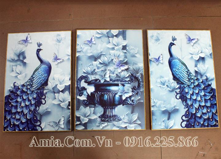 Tranh treo tường phòng khách đẹp AmiA 1503 thực tế ở cửa hàng