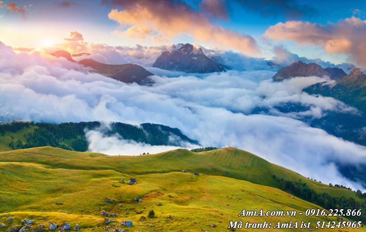 Hình ảnh phong cảnh đẹp mây trời núi rừng thiên nhiên