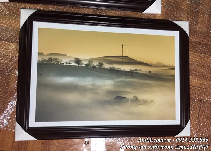 Hình ảnh tranh phong cảnh rừng núi tây bắc thực tế
