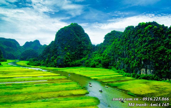 Hình ảnh phong cảnh đẹp thiên nhiên tràng an ninh bình