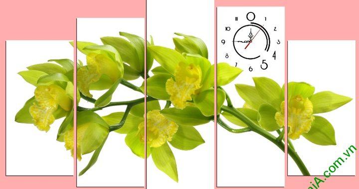 Tranh hoa lan vàng nở phú quý AmiA 392