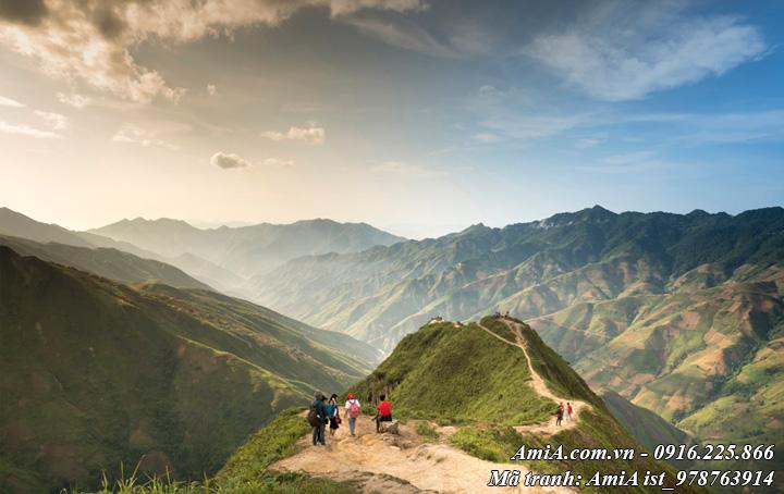 Hình ảnh tranh phong cảnh đỉnh núi Việt Nam
