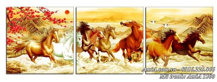Tranh ngựa mã đáo thành công trên Núi AmiA 1500