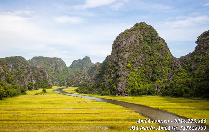Hình ảnh phong cảnh đẹp tràng an ninh bình ở núi rừng thiên nhiên