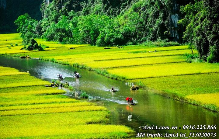 Tranh tràng an ninh bình phong cảnh đẹp thiên nhiên