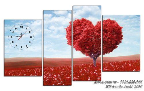 Tranh phong canh doi hoa trai tim AmiA 1506