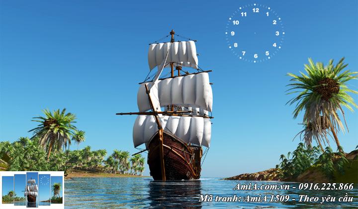 Tranh thuận buồm xuôi gió một tấm khổ lớn