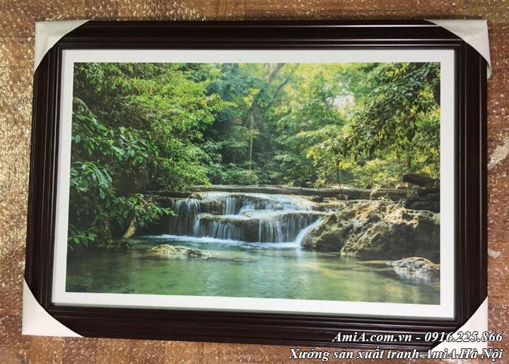 Hình ảnh tranh thực tế thác nước thiên nhiên