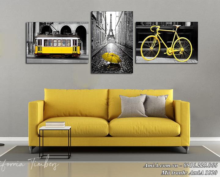 Hình ảnh tranh phong cảnh nước ngoài treo phòng khách Amia 1520