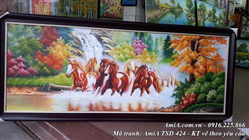 Hình ảnh tranh mã đáo thành công vẽ sơn dầu theo yêu cầu