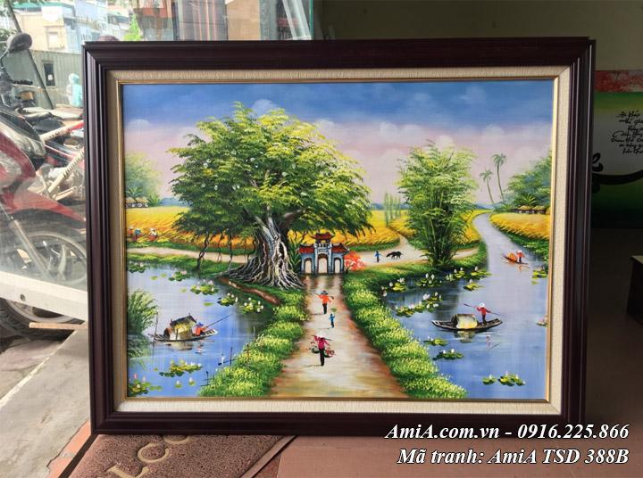 Hình ảnh phong cảnh sơn dầu làng quê TSD 388B chụp tại cửa hàng tranh Amia