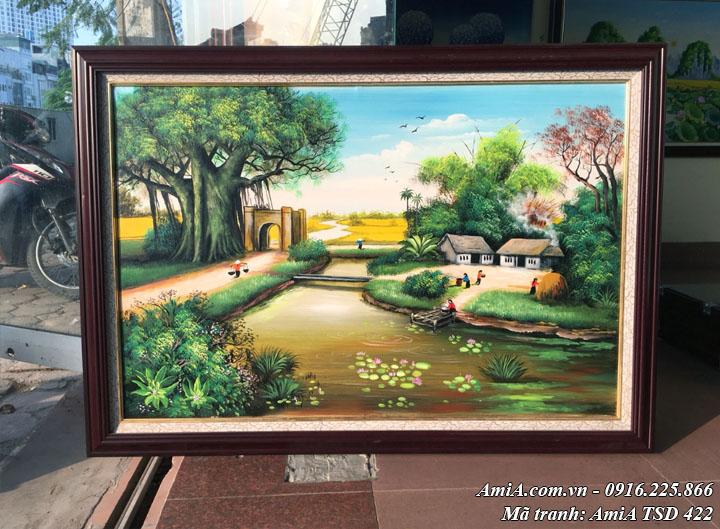 Hình ảnh tranh khổ nhỏ phong cảnh quê hương vẽ sơn dầu tại cửa hàng tranh AmiA
